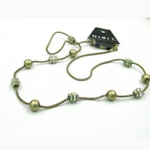 """New Long Crystal Chain Necklace. 32"""""""